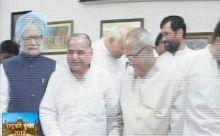 Prime Minister Manmohan Singh, Mulayam Singh Yadav, Pranab Mukherjee, Ram Vilas Paswan
