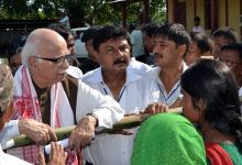 Advani with the riot victims