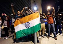 Indian contingent at Olympics ceremony