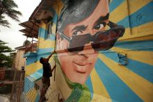 The mural of late Rajesh Khanna