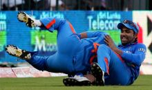 Rohit Sharma, right, and Suresh Raina