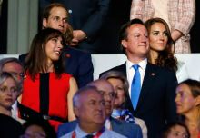 Prince William, Catherine, David Cameron, Samantha Cameron