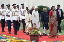 Pranab Mukherjee, Pratibha Patil, Hamid Ansari and the CJI