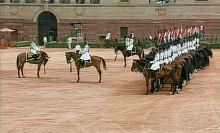 21-gun salute in the honour of Pranab Mukherjee