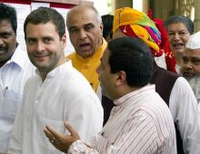 Rahul Gandhi with other Congress leaders