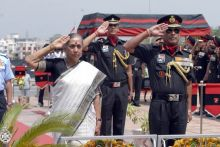 Rajasthan Governor Margaret Alva paid homage to martyrs