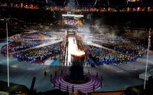A general view of Olympic Stadium during the Closing Ceremony