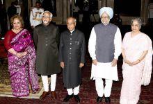 Salma Ansari, Hamid Ansari, Pranab Mukherjee, Manmohan Singh, Gurcharan Kaur