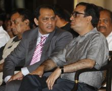 Ajay Maken (left) and Mohammad Azharuddin