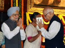 Manmohan Singh and L K Advani