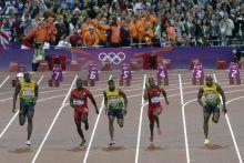 Usain Bolt, Justin Gatlin, Yohan Blake, Tyson Gay and Asafa Powell
