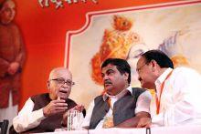 (From left) LK Advani, Nitin Gadkari, Venkaiah Naidu