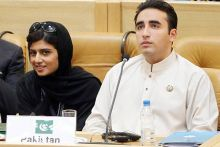 Hina Rabbani Khar and Bilawal Bhutto