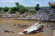 Bus fell into Purna river