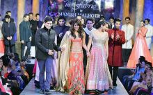 Celebs walk for in Manish Malhotras designs for Shabana Azmi's NGO Mijwan