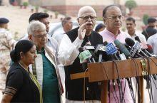 (Left to right) Sushma Swaraj, Murli Manohar Joshi, L.K Advani and Arun Jaitley
