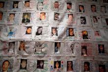 Photos of victims of the attacks of September 11