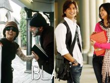Amitabh Bachchan and Rani Mukerji in a still from Black and Shahid Kapoor and Ayesha Takia in a still from Paathshala