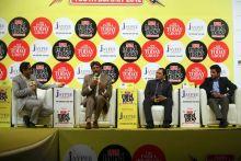 Rahul Kanwal, Kapil Dev, Mohammad Azharuddin and Unmukt Chand