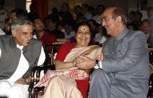 Pawan Kumar Bansal, Sushma Swaraj, Ghulam Nabi Azad