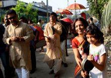 Durga Puja celebrations in Bagbazar