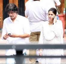Chunky Pandey with wife Bhavna
