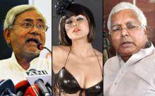 Nitish Kumar, Veena Malik, Lalu Prasad