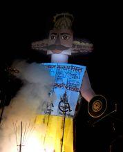 Ravana effigy burns in Lucknow