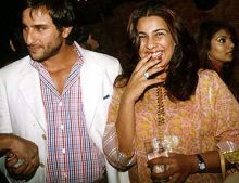Amrita Singh and Saif Ali Khan