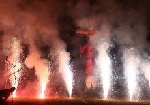 Fireworks in Ramlila ground in Ahmedabad