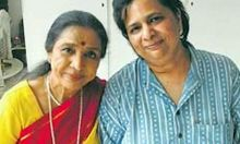 Asha Bhosle (left) with daughter Varsha