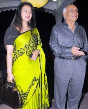 (Left to right) Poonam Dhillon with Yash Chopra