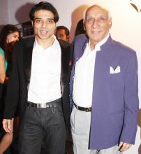Uday Chopra (left) with Yash Chopra
