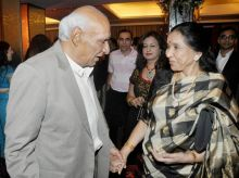 Yash Chopra (left) with Asha Bhonsle