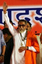 The Lion of Maharashtra Bal Thackeray addresses followers at his last public meeting, the 2011 Dussehra Rally