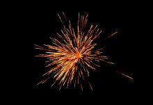 Fireworks on Diwali in Kolkata