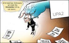 India Today cartoonist Narsim's take on 2G-CAG-UPA imbroglio