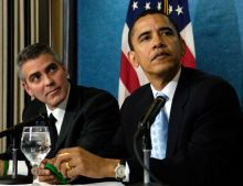 George Clooney and Barack Obama