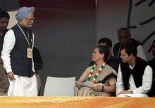 Manmohan Singh, Sonia Gandhi and Rahul Gandhi