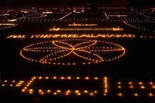 Diwali lights up India as people celebrate with colourful rangolis and twinkling electric bulbs