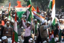 Supporters at Jantar Mantar