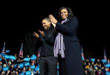 Barack Obama (left) and Michelle Obama