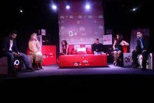 From left: Randeep Hooda, Mahasatvaa Ma Ananda Sarita, Nandini Bhalla, Jamal Shiekh, Madhuri Banerjee and Sanjay Srivastava