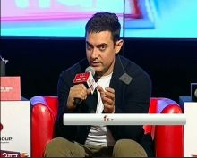 Aamir Khan at Agenda Aaj Tak 2012.