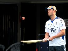 Jonathan Trott during practice session at Eden Gardens