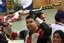 gagan Narang gets third time lucky, becomes India's first medal winner at London 2012.