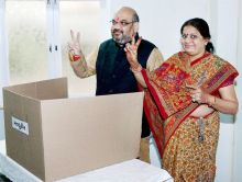 Amit Shah and his wife