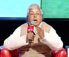 Lalu Prasad at the Agenda Aaj Tak 2012