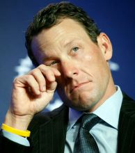 Lance Armstrong loses his titles, and banned for life for systematic doping.