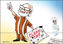 India Today cartoonist Narsimha P's illustrations on the many moods of Narendra Modi